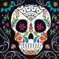 Skull Day Of The Dead Napkins (20)